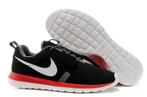 Nike Roshe Run Nm Br Mens Shoes Black White Red Hot Reduced